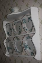 Tallrikshyllan i köket