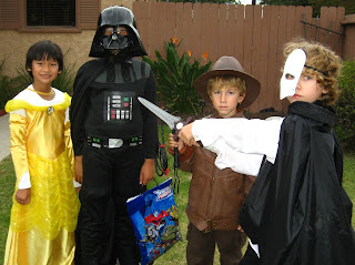 Ethan, Tristan, & friends are ready for trick-or-treating
