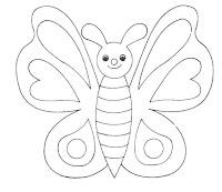 Dibujo de Mariposas para imprimir y colorear!: Simpático dibujo