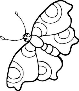 Dibujo de Mariposas para imprimir y colorear!: Dibujo de una