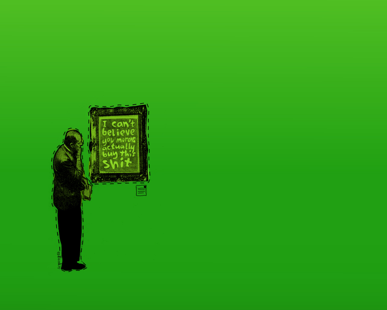 Daily wallpaper you buy this shit banksy wallpaper for Purchase wallpaper