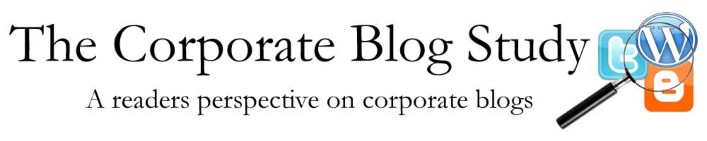 The Corporate Blog Study