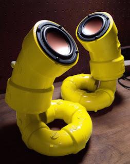yellow pipe speaker