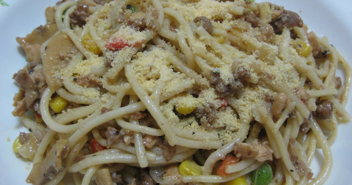 spaghetti goreng lada hitam koleksi resepi sedap