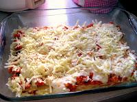 lasagna bayam tabur keju