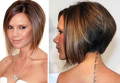 Celebrity short hairstyles victoria Beckham