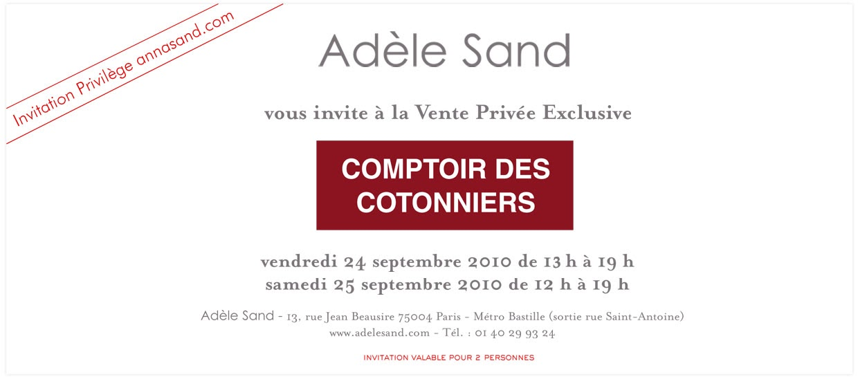 Onceuponaman ventes privees - Comptoir des cotonniers soldes privees ...