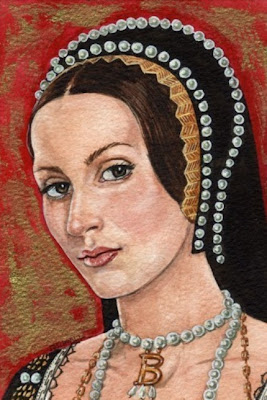 anne boleyn painting portrait mark satchwill