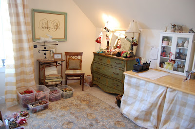 craft sewing room cottage shabby chic