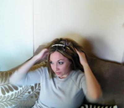 vintage pearl bow headband