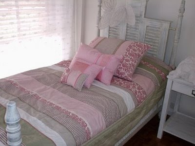 shabby chic headboard white fairy wings