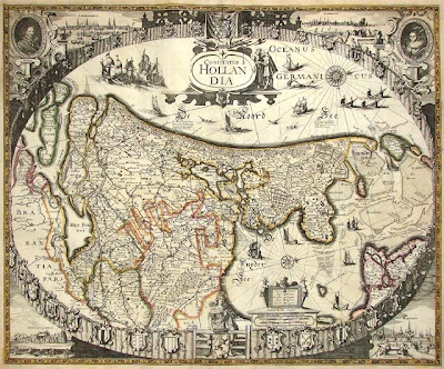 antique map of holland