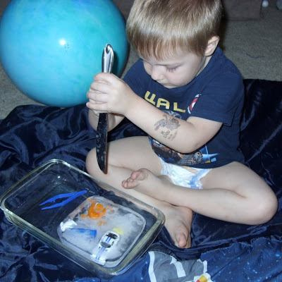 toddler frozen ice preschool activity