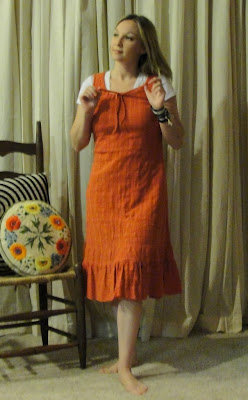 burnt orange vintage tunic sundress