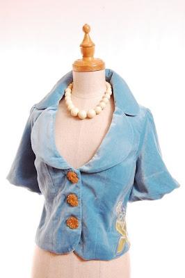 anthro anthropologie aqua turquoise jacket orange buttons