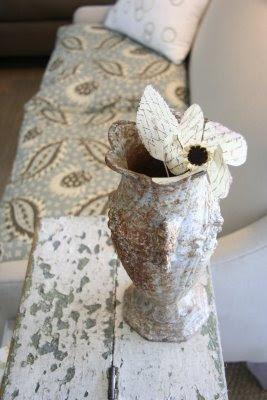vase urn paper flower