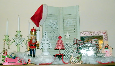 christmas party decorating decor shabby chic