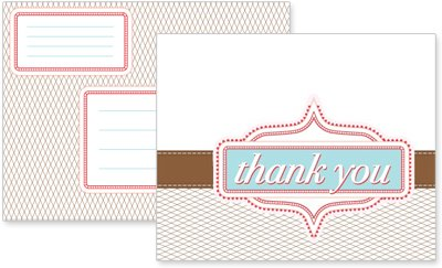 printable blue thank you card free freebie download