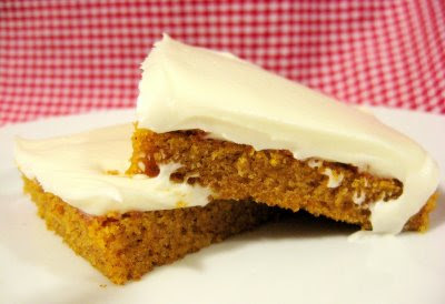 libbys pumpkin bars with cream cheese frosting