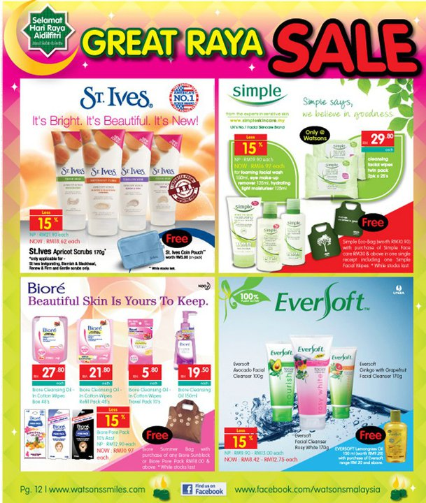 Malaysia sales watson great raya sales