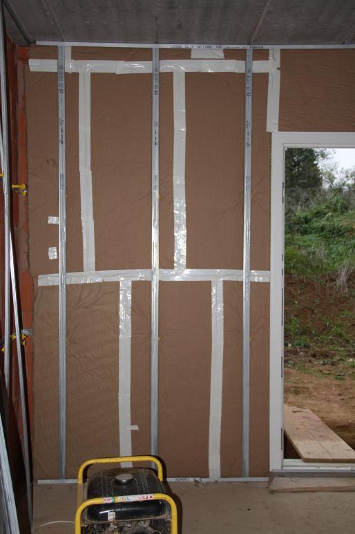 Autoconstruction de notre maison isolation garage suite for Isolation mur de garage