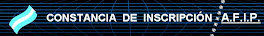 CONSTANCIA DE INSCRIPCIÓN AFIP