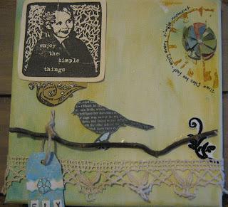 Keilrahmen/ Canvas Enjoy the simple things