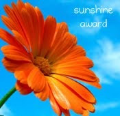 Sunshine Award - My First Award