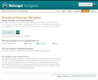 Netscape 9.0b1下載畫面