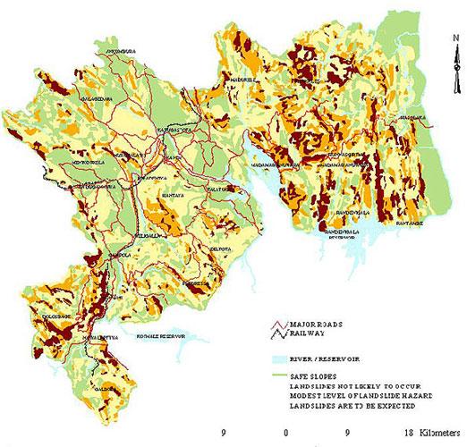 Sri Lanka Landslide Map Landslide in Sri Lanka