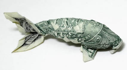 Origami de dinheiro