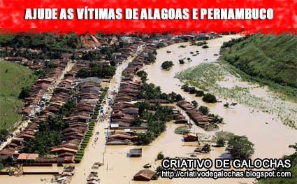 Como ajudar as vítimas das cheias em Alagoas e Pernambuco