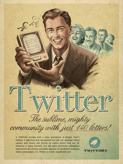 Anúncio Vintage Twitter
