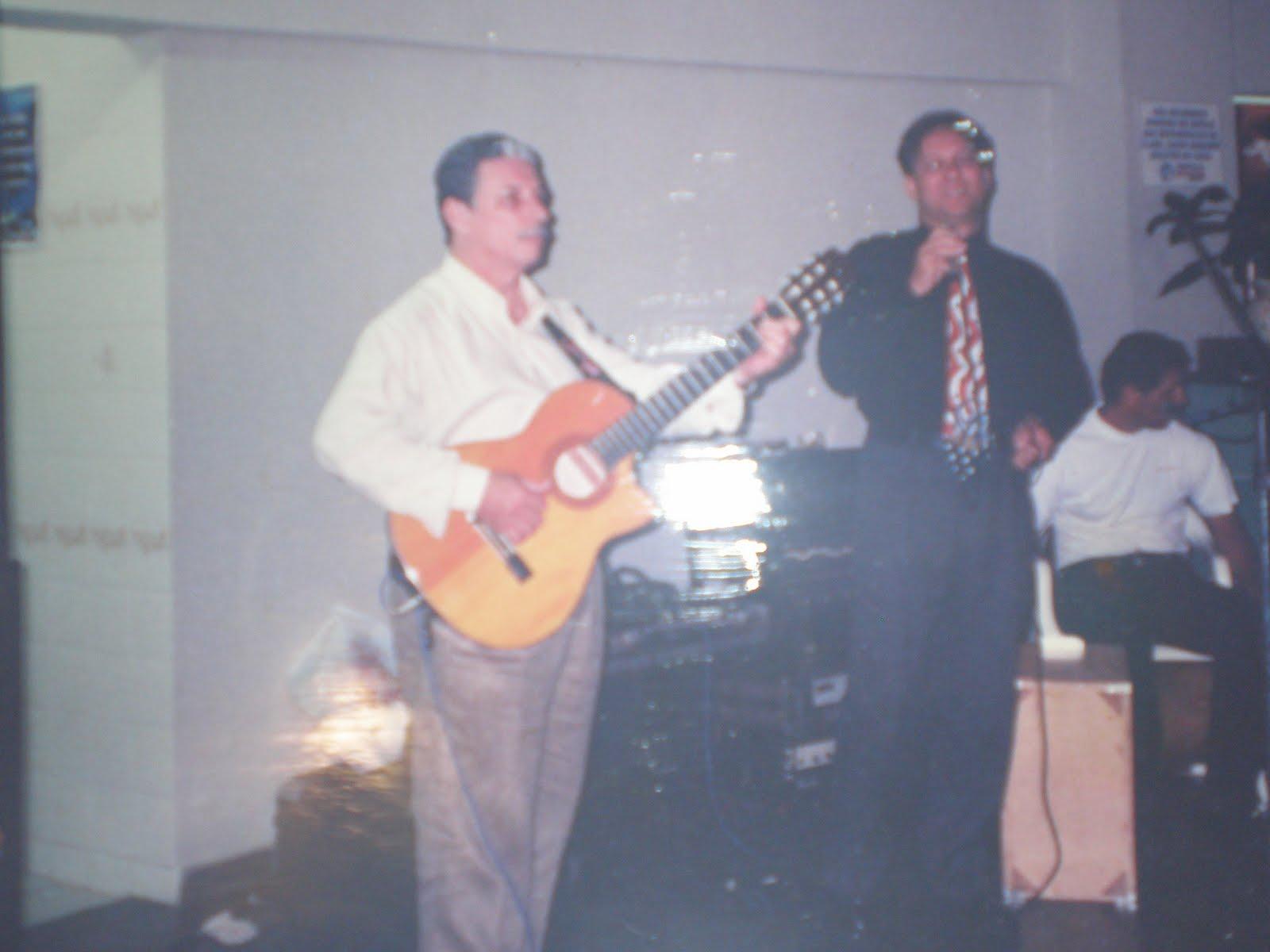 """1998: """"canja"""" na festa do amigo F. Camacho"""