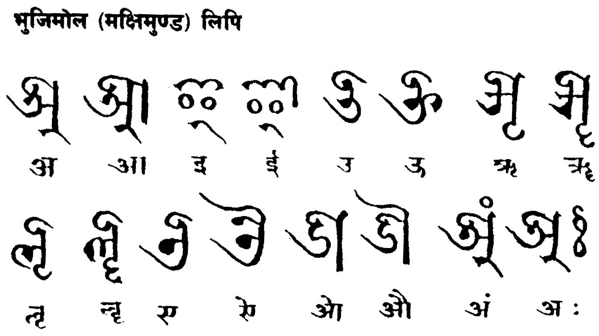 The art of beautiful handwriting calligraphy in nepal bhugimol script thecheapjerseys Choice Image
