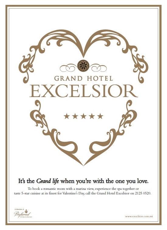 Excelsior hotel malta short of ideas for valentine 39 s day for Valentines day ideas for hotels