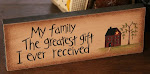 My Family Block Sign ~ $6.00