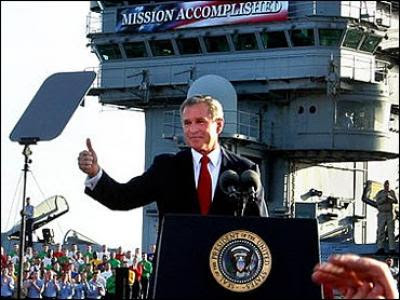 bush aircraft carrier mission accomplished