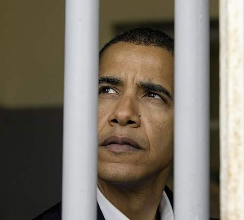 obama prison bars