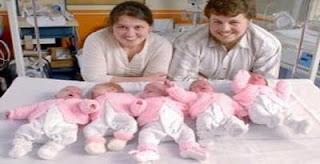 bayi kembar lima