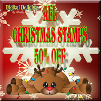50% OFF ALL CHRISTMAS DIGITAL STAMPS
