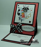 Pedestal card tutorial by Mary