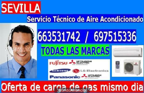 Servicio t cnico sevilla 955 541 374 aire acondicionado for Instalacion aire acondicionado sevilla