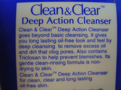 Review Clean and Clear Deep Action Cleanser