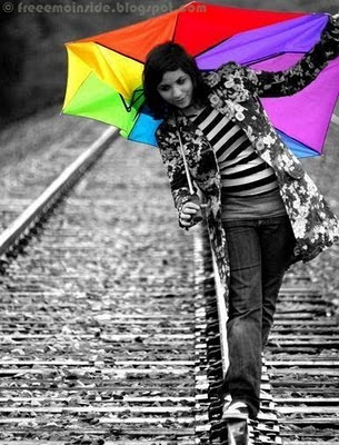 (Portrait of a cute girl in a ) cute people photographs. EMO Girl Umbrella