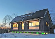 Brightbuilt Barns, an eco-smart project in Spruce Mountain, Maine
