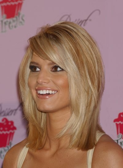 Jessica Simpson Medium hairstyles