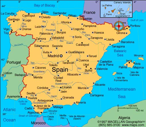 Spain Tourism: Geography of Spain