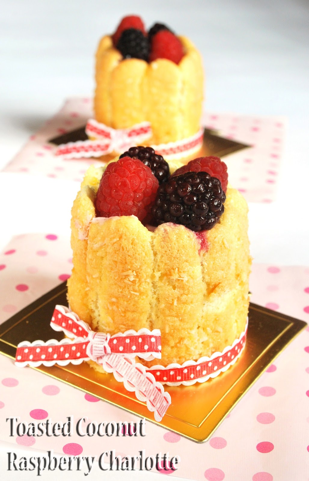 Toasted Coconut And Berries Charlottes Recipe — Dishmaps