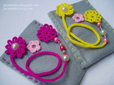 crochet beaded book thongs